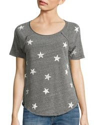 Splendid Ashbury Star Print Tee Heather Grey