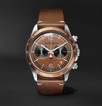 Bell And Ross Revolution Bellytanker Dusty Limited Edition Chronograph 41Mm Steel Leather Watch Brown