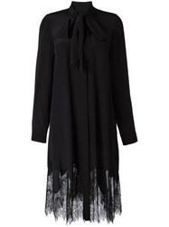 Mcq By Alexander Mcqueen Lace Hem Shirt Dress Black