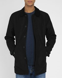 Carhartt Harris Quilted Black Trench With Velvet Collar