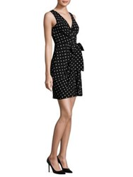 Moschino Silk Polka Dot Dress Black White
