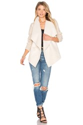 John And Jenn By Line Sienna Faux Fur Cardigan Beige