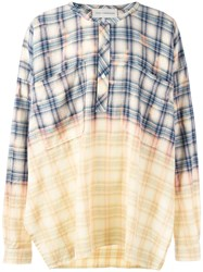 Faith Connexion Ombre Plaid Shirt Yellow