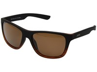 Zeal Optics Radium Torched Woodgrain W Polarized Copper Lens Athletic Performance Sport Sunglasses Brown