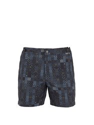 Danward Mosaic Print Swim Shorts Grey Multi
