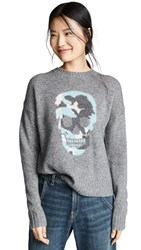 360 Sweater Felice Heather Grey Teal