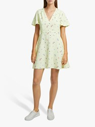 French Connection Frida Flippy Dress Lemon Multi