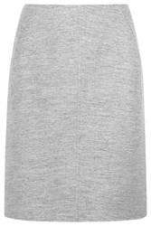 Jil Sander Wool And Angora Blend Skirt Gray