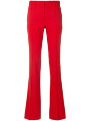 Versace Flat Front Flared Bottom Trousers