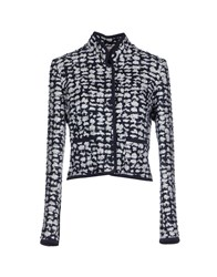 Oscar De La Renta Suits And Jackets Blazers Women Dark Blue