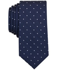 Bar Iii Men's Canyon Dot Skinny Tie Only At Macy's Navy
