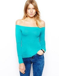 Asos The Off Shoulder Top With Long Sleeves Jade