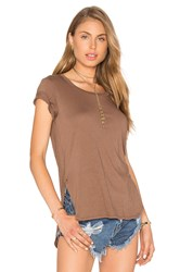 Bobi Light Weight Jersey Hi Lo Tee Brown