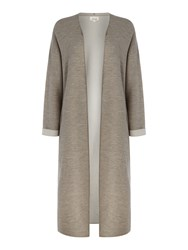 Linea Limited Wool Rich Longline Double Face Cardigan Camel
