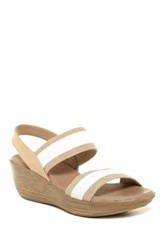 Munro American Reed Wedge Sandal Available In Multiple Widths White