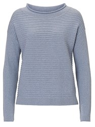 Betty Barclay And Co. Raised Rib Jumper Smoky Blue