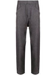 Ann Demeulemeester Pull On Straight Leg Trousers Grey