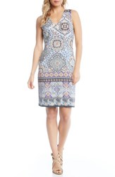Karen Kane Tuscan Tile Sheath Dress Print