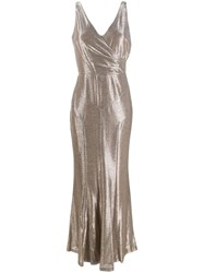 Lauren Ralph Lauren Alethe Metallic Sheen Dress 60