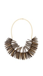 Kenneth Jay Lane Tribal Necklace Gold Multi