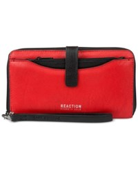 Kenneth Cole Reaction Right Angles Tab Tech Wristlet With Charger Flame