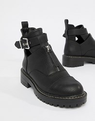 Blink Flat Ankle Boots Black