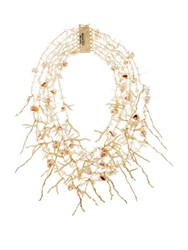 Rosantica By Michela Panero Sardegna Seashell Charm Necklace Yellow Gold