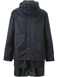 3.1 Phillip Lim Layered Hooded Parka Blue