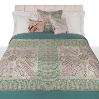 Etro Maiorca Quilted Bedspread 270X270cm Turquoise
