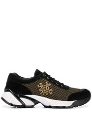 Mr And Mrs Italy Black Gold Sneakers