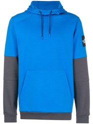 The North Face Contrast Sleeves Hoodie Blue