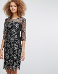 Selected Brina Lace Midi Dress Black