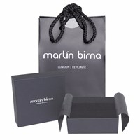 Marlin Birna Atlantic Salmon Leather Bracelet Double Cord Black And Gold Black Gold