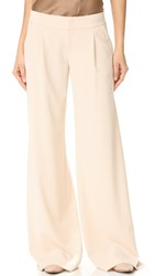 Alice Olivia Eric Wide Leg Pleat Front Pants Champagne
