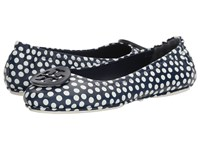 Tory Burch Minnie Travel Ballet Navy Sea New Ivory Women's Shoes Navy Sea New Ivory