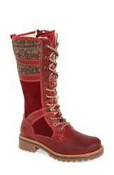 Bos. And Co. Women's Holding Waterproof Boot Red Scarlett Mountain Leather