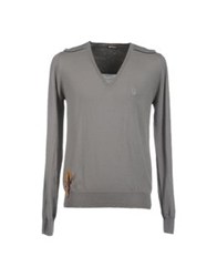 Galliano V Necks Grey