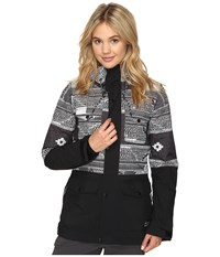 O'neill Cluster Jacket Black All Over Print Women's Jacket