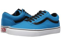 Vans Old Skool Brite Neon Blue Black Skate Shoes