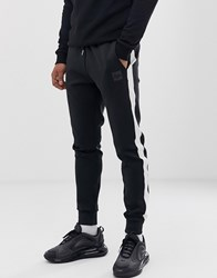 Hype Poly Stripe Slim Fit Joggers Black