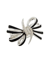 Stephen Webster Four Loop Black Diamond Bow Ring Size 7