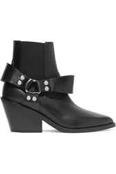 Maison Martin Margiela Mm6 Leather Ankle Boots Black