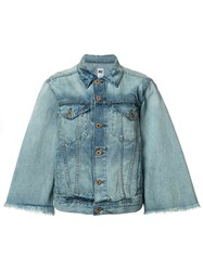 Nsf Flared Sleeve Denim Jacket Blue