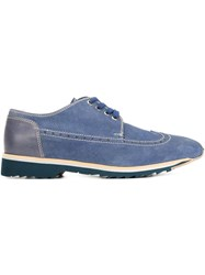 Gianmarco Lorenzi 'Velour' Brogues Blue