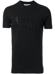 Mcq By Alexander Mcqueen Logo Embroidered T Shirt Black