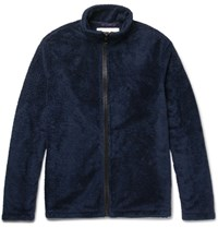 Our Legacy Polar Fleece Zip Up Sweatshirt Navy