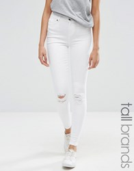 Vero Moda Tall Skinny Distressed Jeans White Cream