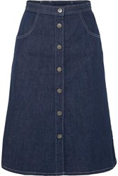 Mih Jeans M.I.H Callcott Organic Denim Skirt Dark Denim