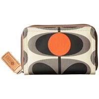 Orla Kiely Flower Stem Print Zip Purse Granite