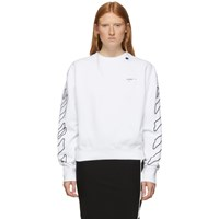 Off White Abstract Arrows Oversized Hoodie